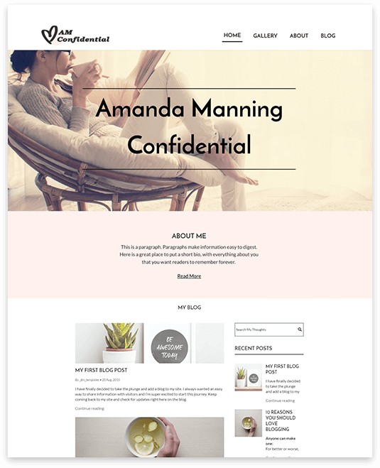 Website builder LifeStyle responsive template
