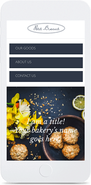 Website builder Bakery responsive template