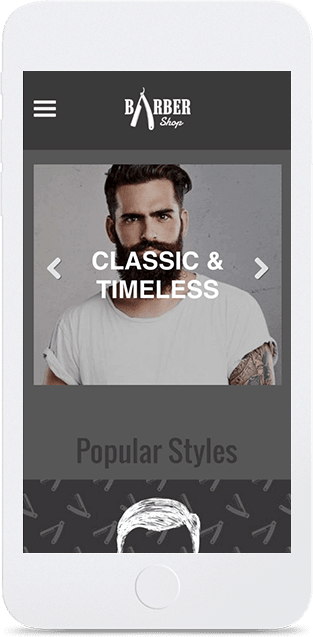 Website builder Barber Shop responsive template