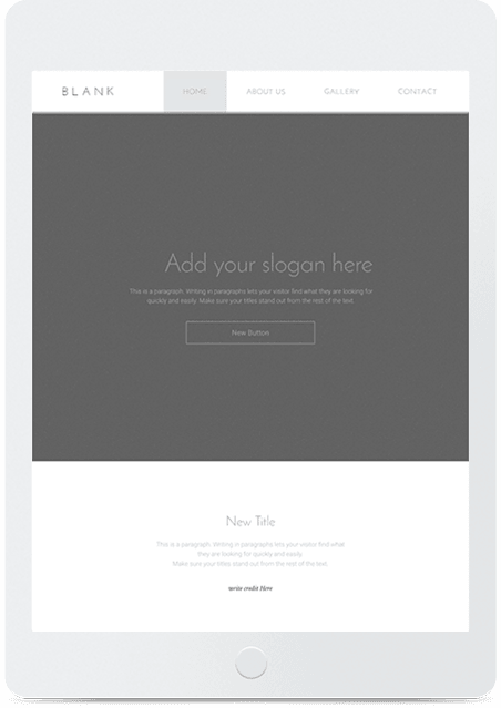 Website builder Blank parallax responsive template