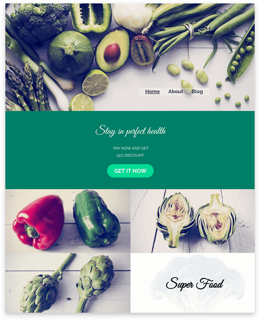 Website builder Nutrition Advisor responsive template