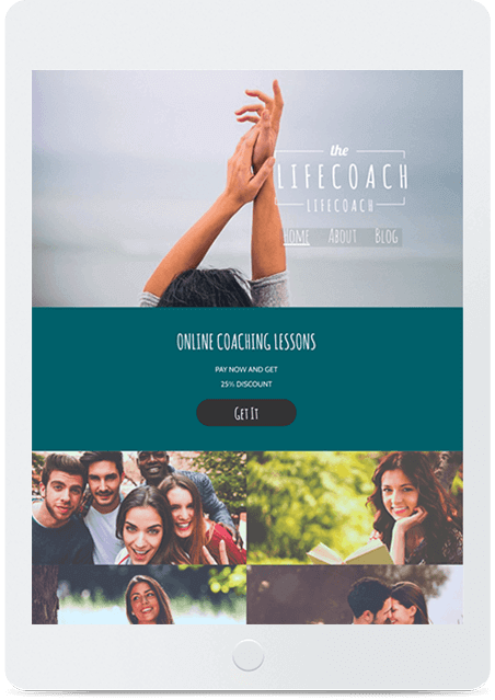 Website builder Life Coach responsive template