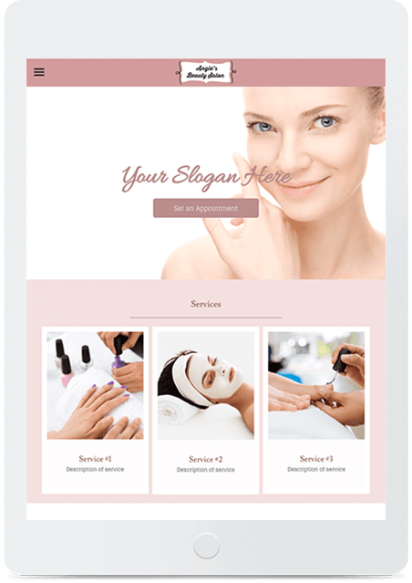 Website builder Beautician responsive template