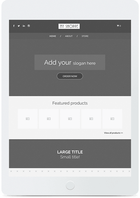 Website builder Blank Store responsive template