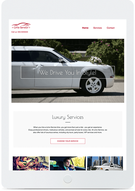 Website builder Limo Service responsive template