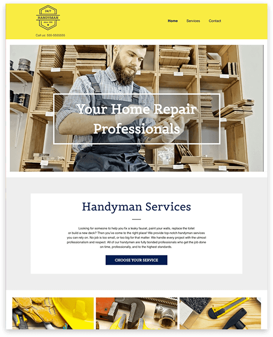 Website builder HANDYMAN responsive template