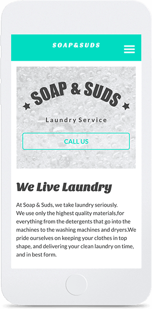 Website builder Soap & Suds responsive template