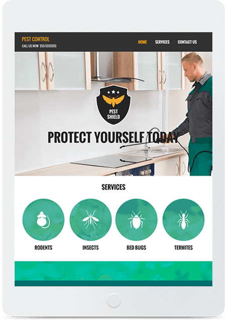 Website builder Pest Control responsive template