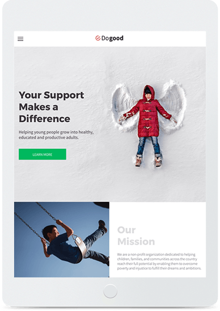 Website builder Non-Profit Foundation responsive template