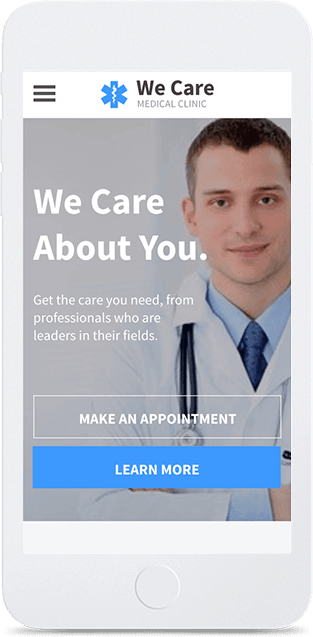 Website builder Medical Clinic responsive template