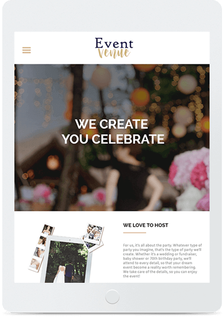 Website builder Event Venue responsive template