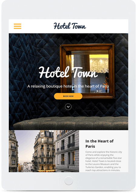 Website builder City Hotel responsive template
