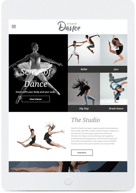 Website builder Dance Studio responsive template
