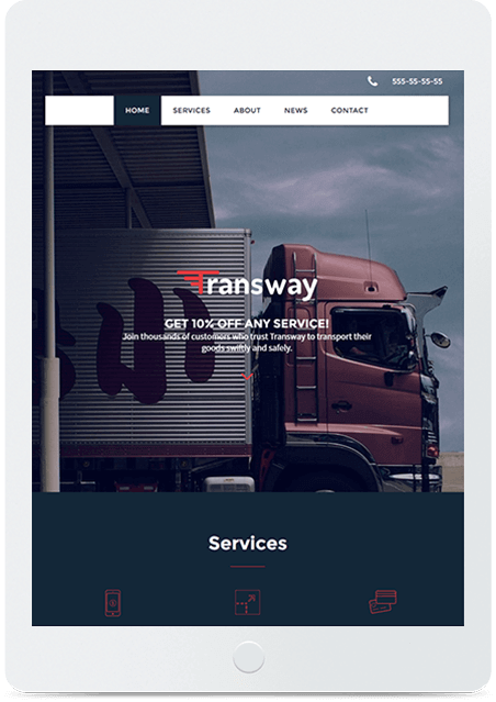 Website builder Logistics Template responsive template