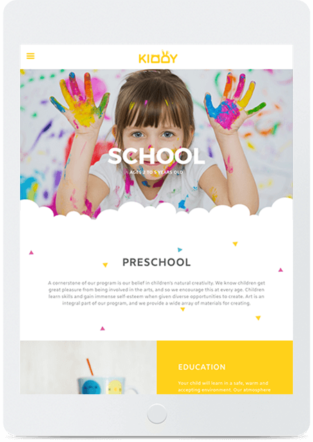 Website builder Preschool responsive template