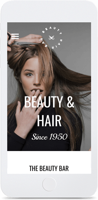 Website builder Hair Salon responsive template