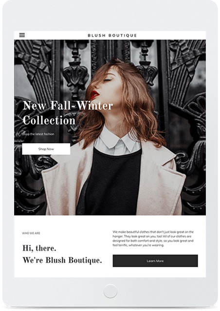 Website builder Fashion Store responsive template