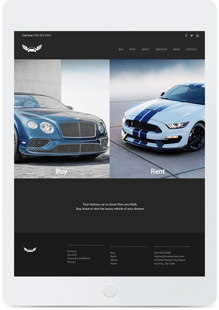 Website builder Car Dealer responsive template