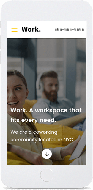 Website builder Workspace responsive template