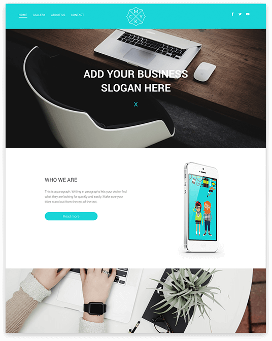 Website builder Parallax responsive template