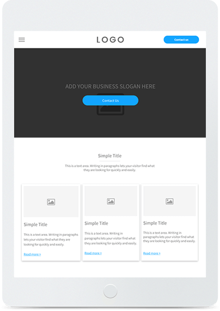 Website builder Blank Template responsive template