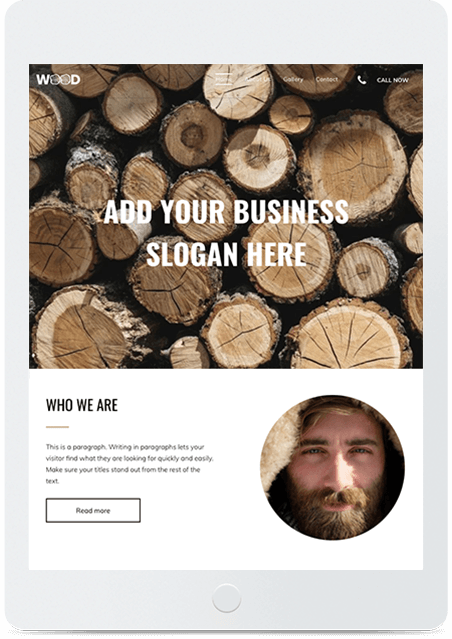 Website builder Carpenter responsive template
