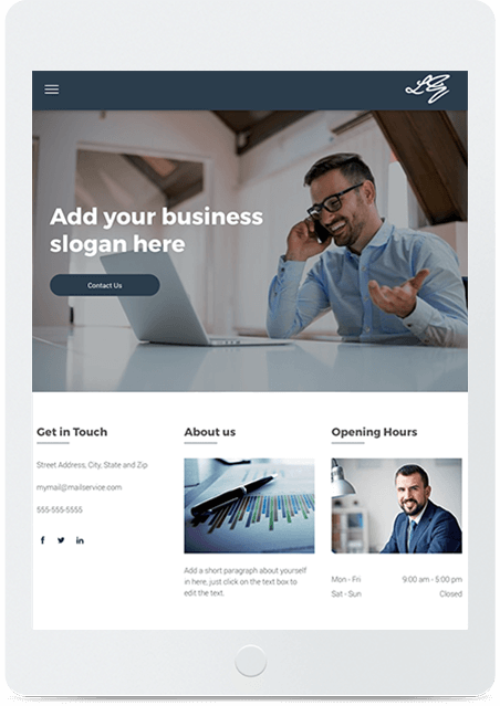 Website builder Financial Template responsive template