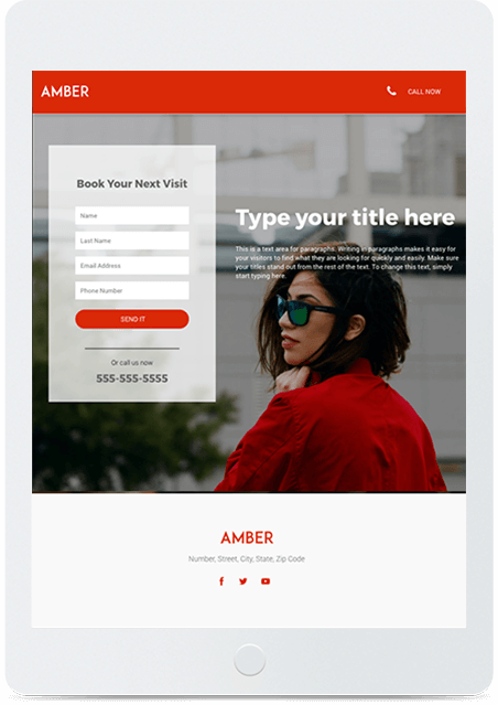 Website builder Amber responsive template