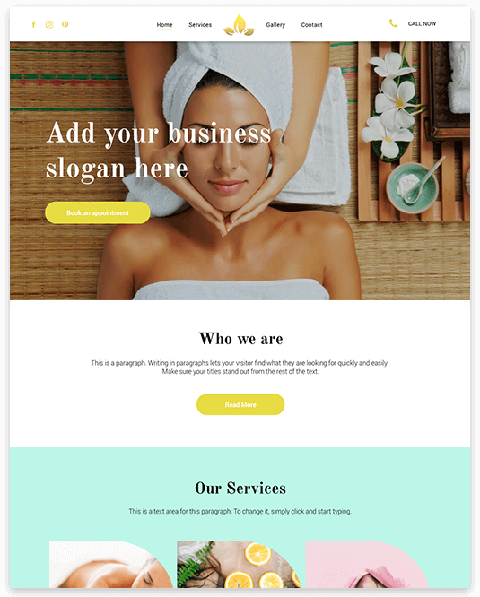 Website builder Spa responsive template