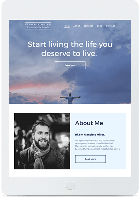 Website builder Personal Coach responsive template