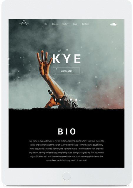 Website builder Musician responsive template