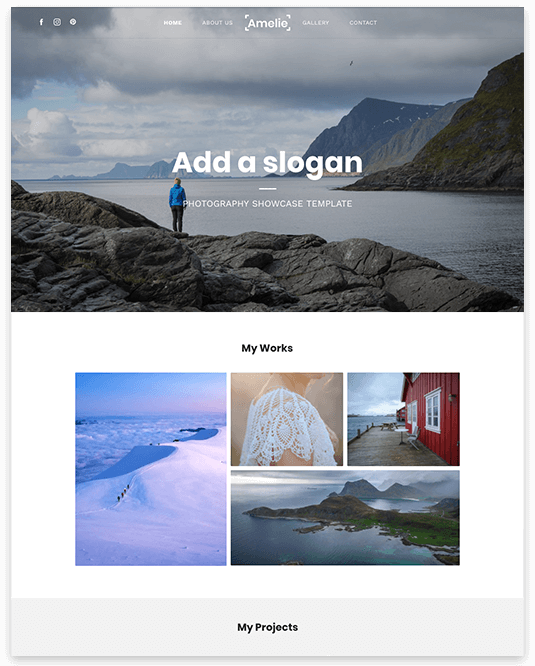 Website builder Landscape Photography responsive template