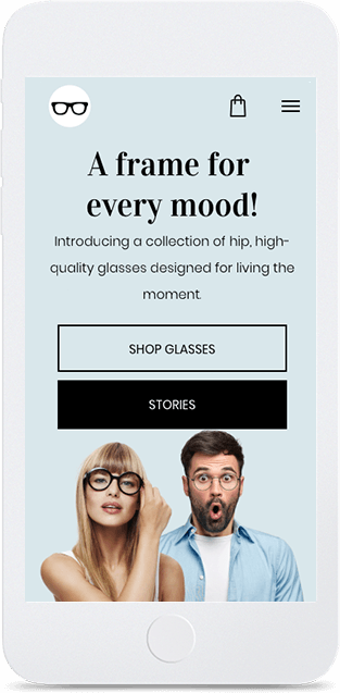 Website builder Eyewear Store responsive template