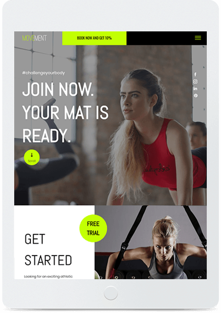 Website builder Gym responsive template