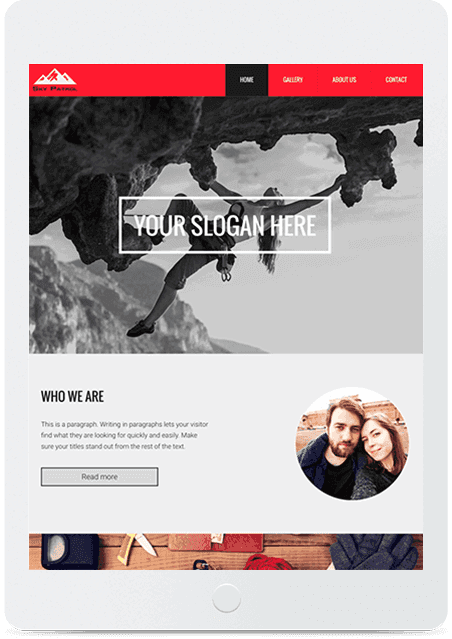 Website builder Sky Patrol responsive template